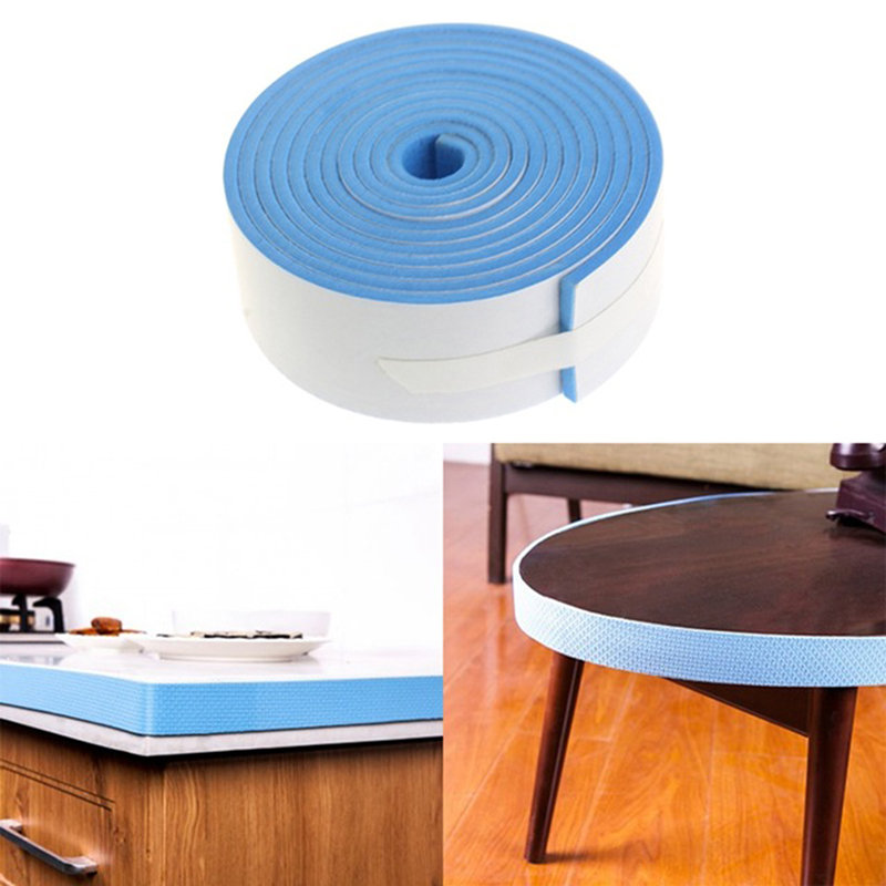 Flat Protective Stripe 2M Table Corner Guards Child Safety Products Furniture Guard Strip Horror Crash Bar Baby Protection Strip