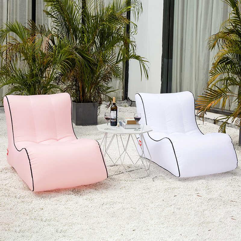 Inflável praia ao ar livre cadeiras do saco de feijão sofá preguiçoso cadeira beanbag espreguiçadeira ar