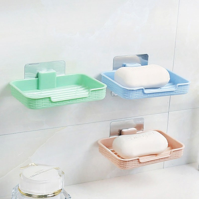 1 Pcs Hot sale soap rack magic wall suction soap holder seamless paste sponge rack soap tray home organization storage box