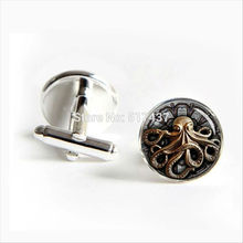 2017 Free Shipping Octopus Cufflinks Steampunk Octopus Cuff link Men Cufflinks High Quality