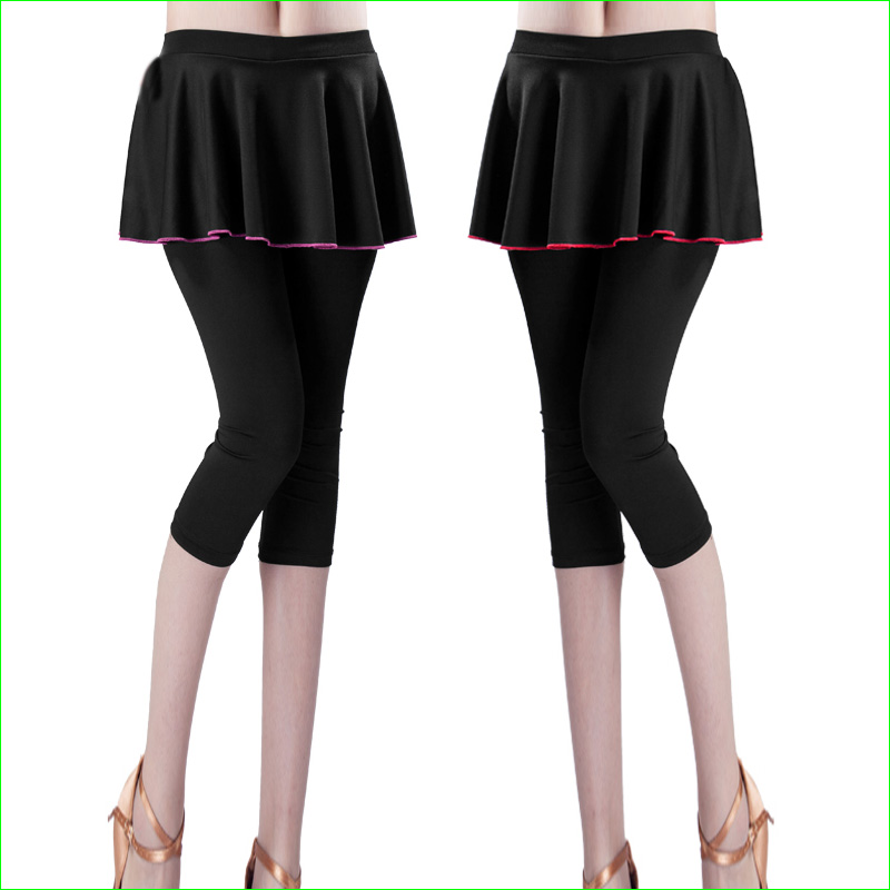 Female Tennis Capri Skirt Running Surfing Skirted Leggings Yoga Dance Pants Tights Women Athletic Skorts