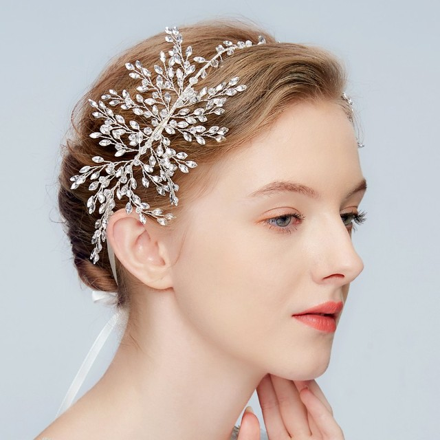 579d0c47c Elegant Wedding Bridal Headbands Crystal Rhinestone Headpiece Luxurious Hair  Jewelry Accessories for Women Christmas Gift HuoMei