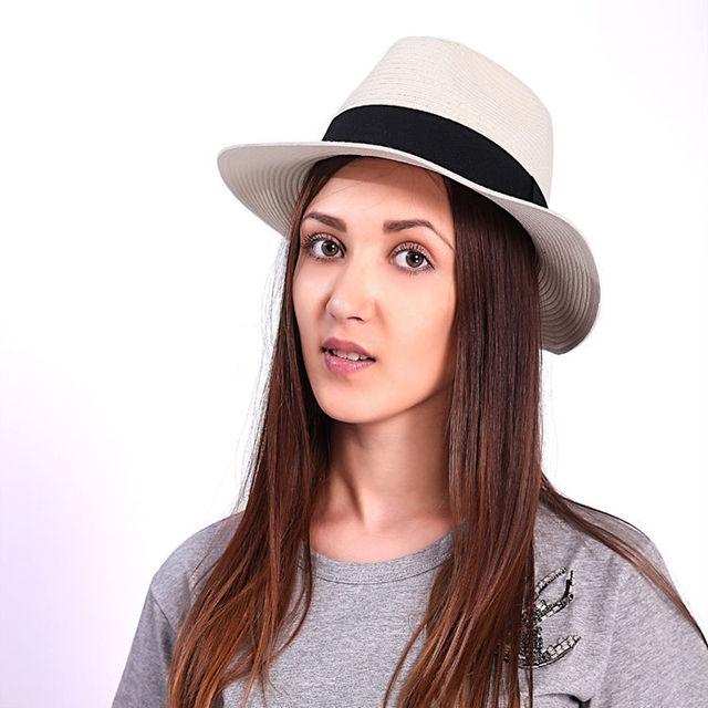 2015 moda para mujer para hombre Unisex gángster Cap Beach Summer Sun paja sombrero panamá parejas amantes del sombrero