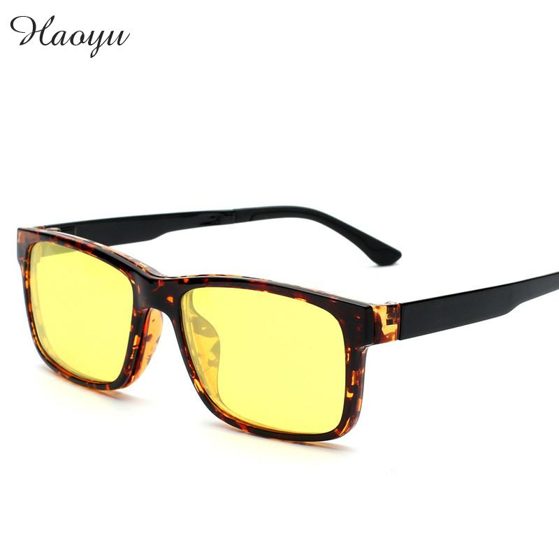 haoyu plastic titanium tr90 myopia lens magnet adsorption polarized sunglasses colorful clip sun glasses frames oculos