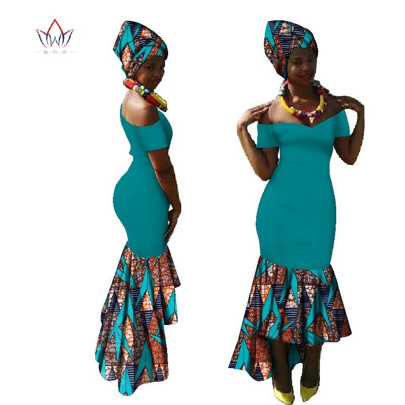 Dashiki robe de soirée robes de Dashiki chaudes pour les femmes coton imprimé traditionnel africain vêtements xxl vêtements femmes WY1885