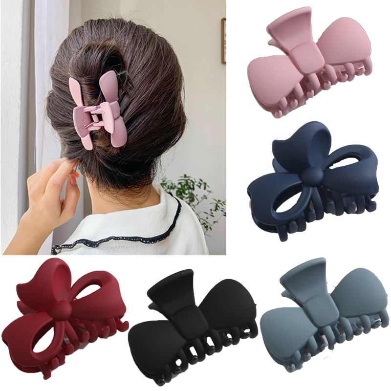 Ruoshui Bowknot Shape Hair Claws For Woman Make Up Hair Crab Hairpins Hairgrips Women Hair Accessories Ladies Clips For Hair