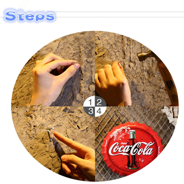 Creative Iron Beer Bottle Cap Artcrafts Retro Stickers Wall Hanging Decoration Vintage Bar Cafe Shop Home Decoration Accessories 6