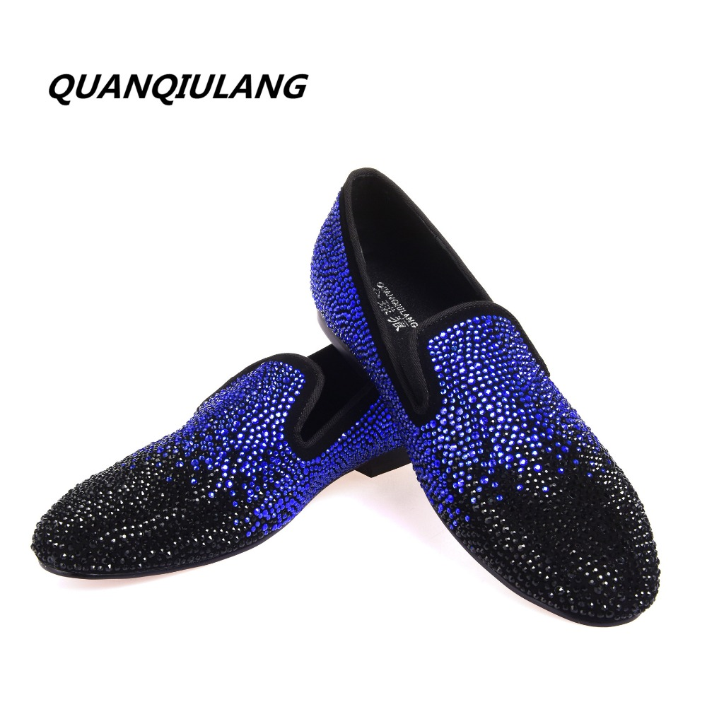 2017 New Brand Designer Red Bottoms man shoes Diamond Genuine Leather Fashion Men Casual flat shoes Male Loafers Size 39 47