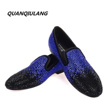 2017 New Brand Designer Red Bottoms man shoes Diamond Genuine Leather Fashion Men Casual flat shoes Male Loafers Size 39-47