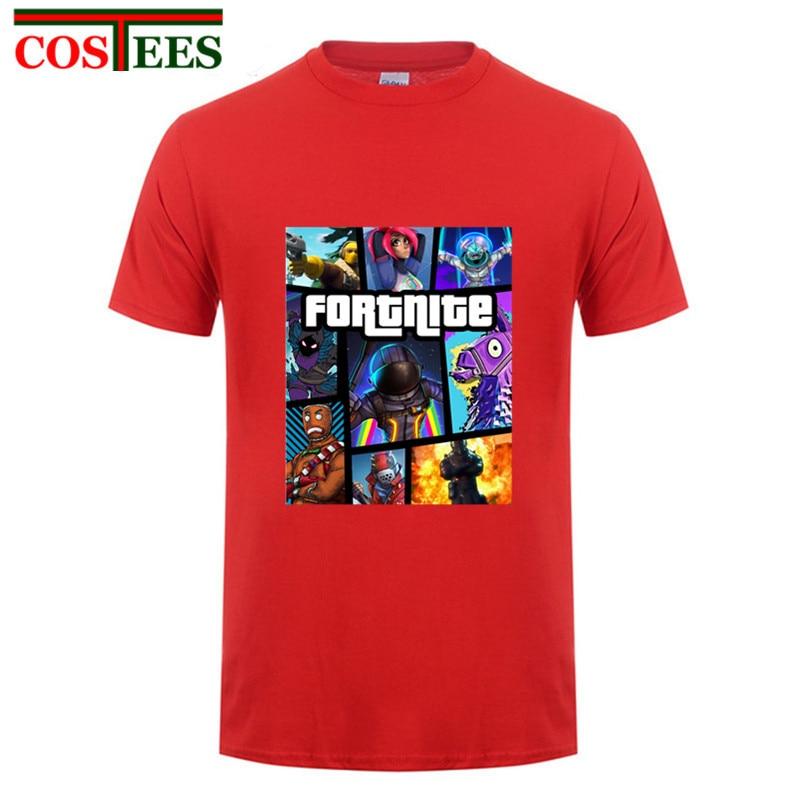 GTA 5 design Fortnite Cover T-shirt Fortnite Victory Royale tshirt Video game hi-streetwear Tees Fortnite Battle Royale t shirts