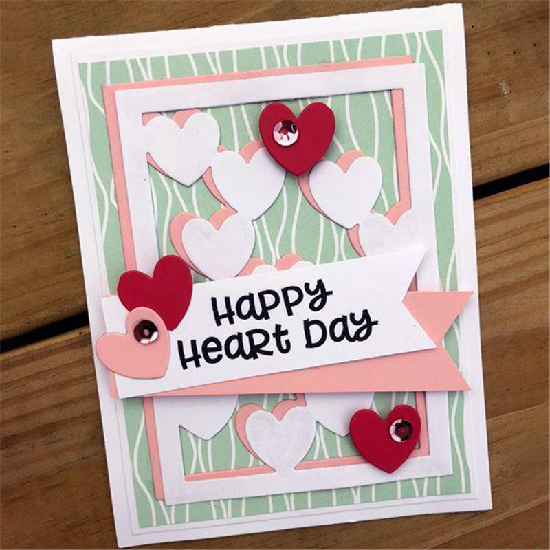 Eastshape Solid Heart Frame Metal Cutting Dies Scrapbooking Dies Background For DIY Card Making Album Crafts Embossing Die Cut in Cutting Dies from Home Garden