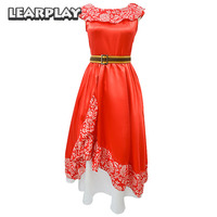 Elena of Avalor Cosplay Costumes Red Fancy party Dresses for Adults Woman