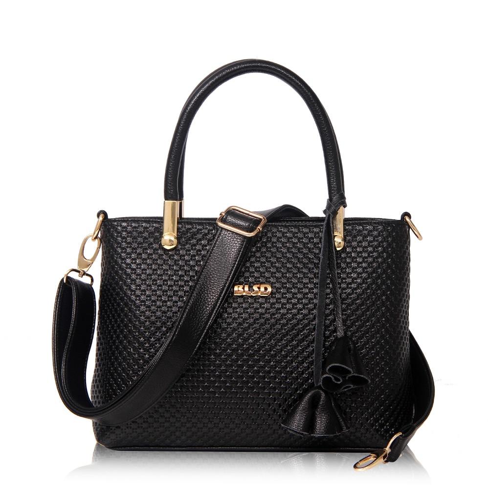ФОТО Women Boston Handbags Fashion 2017 Women's Handbag Vintage Doctor Bag Women  Messenger Bags Casual Handbags BLACK ST9227