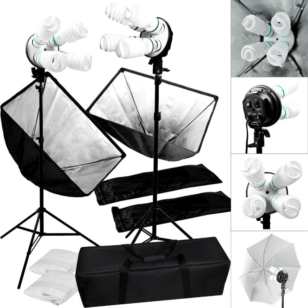 Hot Studio Video Continuous Lighting Kit Photography Softbox Light photography backdrops 1600W lamp Holder Photo Accessories контроллер fibre channel dell nic qlogic 2662 dual port 406 bbbh 406 bbbh