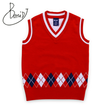 3-7Y Boys Sweater 2018 England Style Brand Design Knit Vest Children Clothes Baby Sleeveless Autumn Infant Jacket Kids clothing striped sweater for boys 2018 brand design fall girl pullover baby boy casual sweater infant knit sweater children clothes