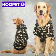 HOOPET New Big Dog Camouflage Uniforms Double Thick Clothes Warm Parkas Pet Supplies wholesale/retail