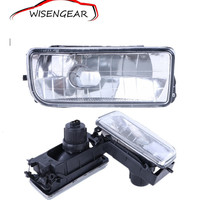 1 Pair Front Bumper Clear Glass Fog Light Foglamps Lens For BMW E36 3 Series 2