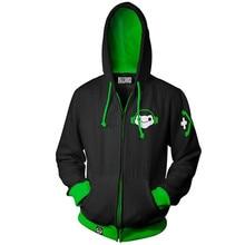 3D  Printing Overwatch Genji DVA DJ Man Hoodie Sweatshirt Game hero Men Top Sweater Zip Cosplay Costume