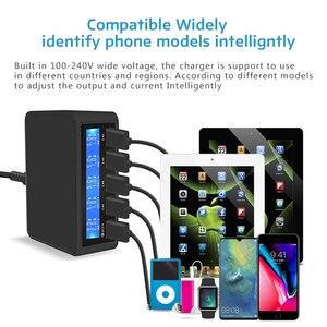 Image 5 - 50 w 빠른 충전 3.0 5 포트 usb 충전기 어댑터 아이폰에 대 한 휴대 전화 빠른 충전기 삼성 xiaomi 태블릿 충전기 역 플러그