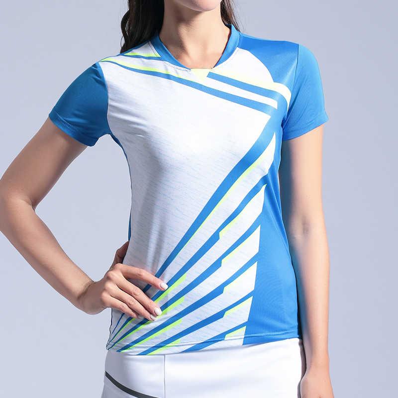Мужские и женские рубашки для бадминтона, обычные спортивные теннисные майки, Мужская настольная теннисная футболка, быстросохнущая Спортивная тренировочная рубашка для фитнеса