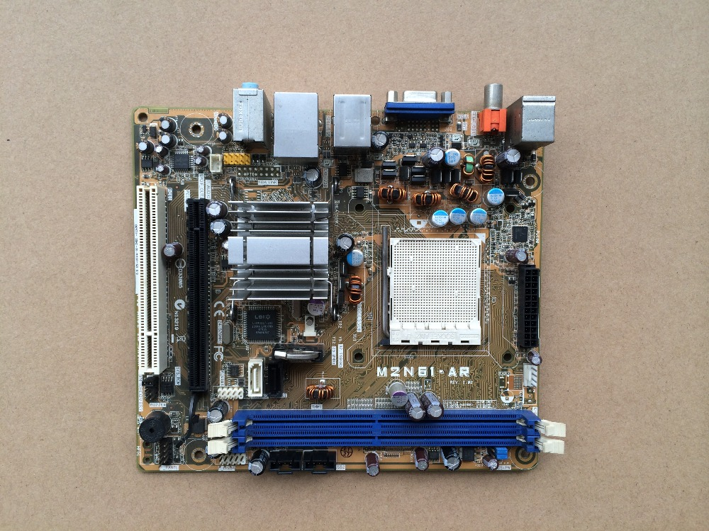ФОТО Free shipping for HP S3818CN S3518CN AM2 DDR2 Motherboard M2N61-AR 5189-0683 small-car chassis motherboard
