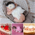 Cute !! Newborn Baby Girl Clothes Skirt Soft Adorable Sets Lace Headwear Angel Wing Headbands Newborn Photography Props