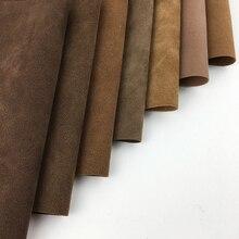 Искусственная кожа замша кожа коричневые ножницы бахромой ручной работы кожаная сумка DIY аниме