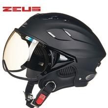 New arrival ZEUS half helmet Electric bicycle helmet Summer Motorcycle helmet Vintage Sctoor helmet with Anti UV lens Moto casco