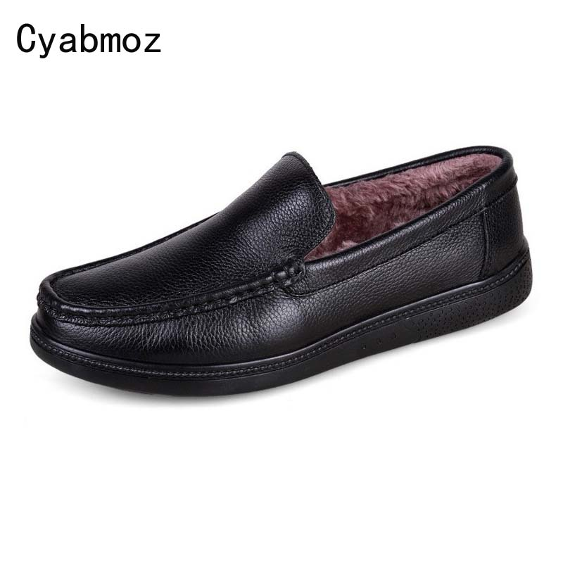 New Fashion Men Shoes Men's Flats Genuine leather shoes Winter Men Oxfords Casual Driving Breathable Moccasin Plus Size 38-46 top brand high quality genuine leather casual men shoes cow suede comfortable loafers soft breathable shoes men flats warm
