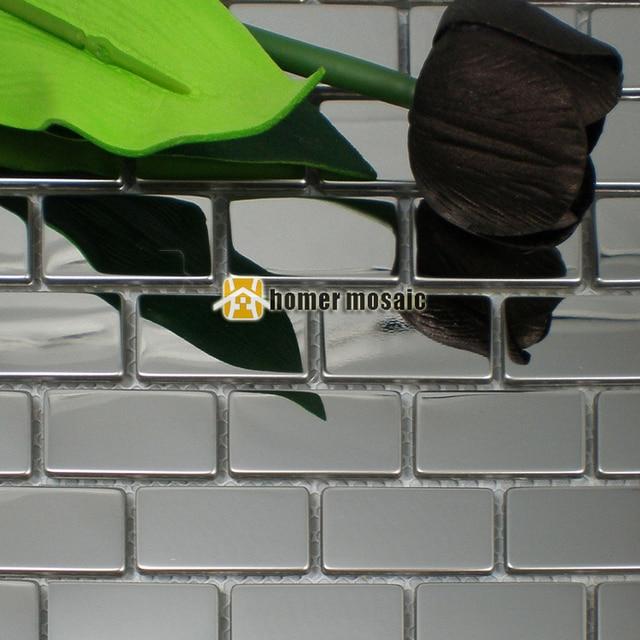 online-shop ziegel muster silber farbe glänzend 304 edelstahl, Hause ideen
