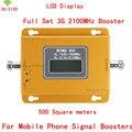 Display LCD HOT 3G W-CDMA 2100 MHz Cell Phone Signal Booster 2G 3G 2100 Repetidor de Sinal UMTS Amplificador Extensor de 500 Quadrado metros
