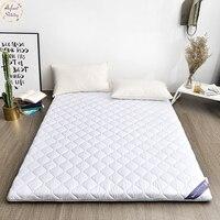 Colchón de bebé brillante de 5 CM 100% algodón colchoneta de cama doble Tatami colchón Multi-tamaño antideslizante estudiante dormitorio cama estera
