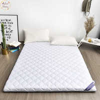 Infant Shining 5CM 100% Cotton Mattress Double Bed Mat Tatami Mattress Multi-size Anti-skid Mattress Student Dormitory Bed Mat