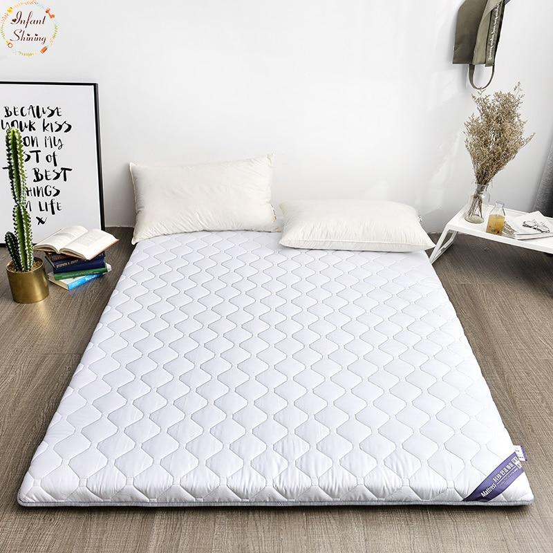 Niemowlę Shining 5 CM 100% bawełniany materac podwójne łóżko mata Tatami materac wielu rozmiar antypoślizgowe materac studenta łóżko mata