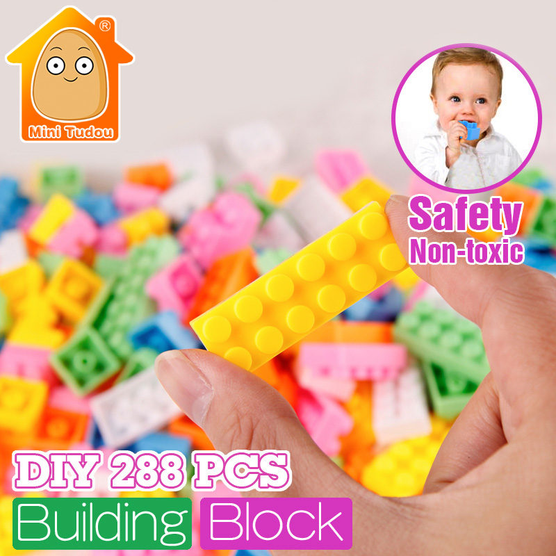 MiniTudou DIY Building Blocks 288PCS Creative Bricks Toys for Children  Early Learning Educational Plastic Model Kits издательство робинс сказочная азбука