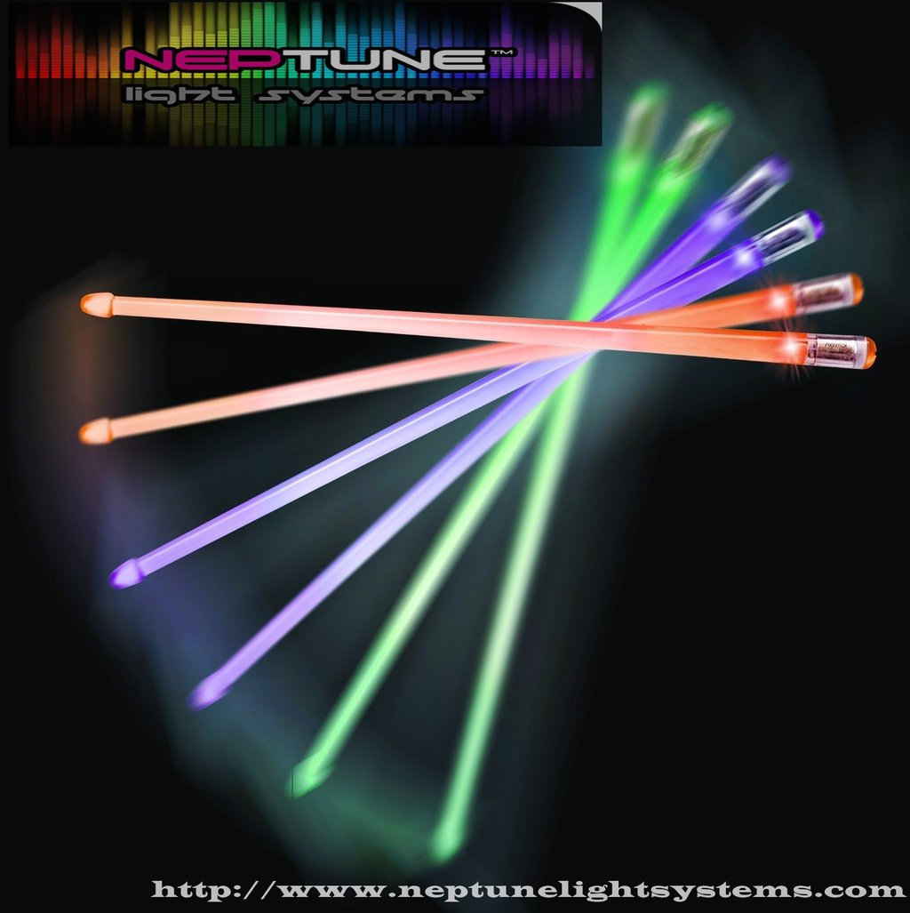 Rockstix 2 HD Bright LED Drumsticks With 7 Individual Color Available, Firestix Upgradte To RockStix
