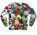 2015 hombres / mujeres harajuku impresión Bugs Bunny 90 s de dibujos animados estadounidense pullover 3d hoodies divertido sudadera sudaderas tops ropa