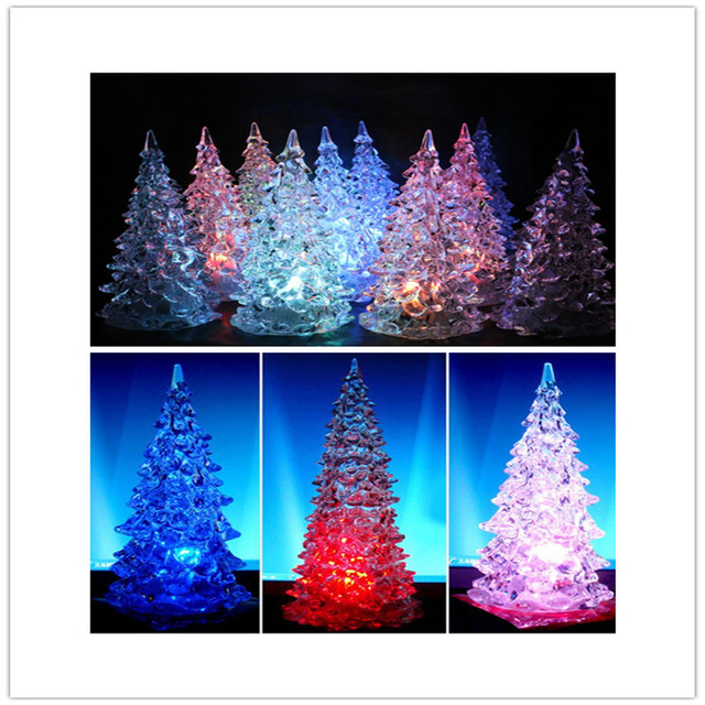 led christmas tree night light new style changing light automatically 7 colors night light holiday decoration - Led Christmas Tree Lights That Change Colors