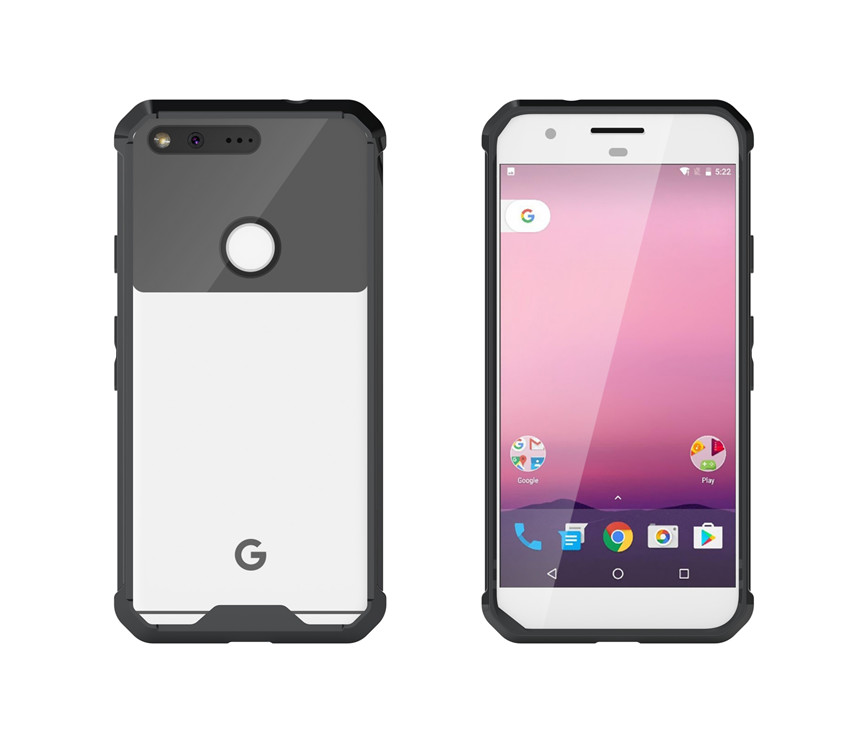Shock-Resistant Case For Google Pixel/Pixel XL Cover Crystal Transparent Hard TPU+Acrylic Back Clear Phone Covers Cases