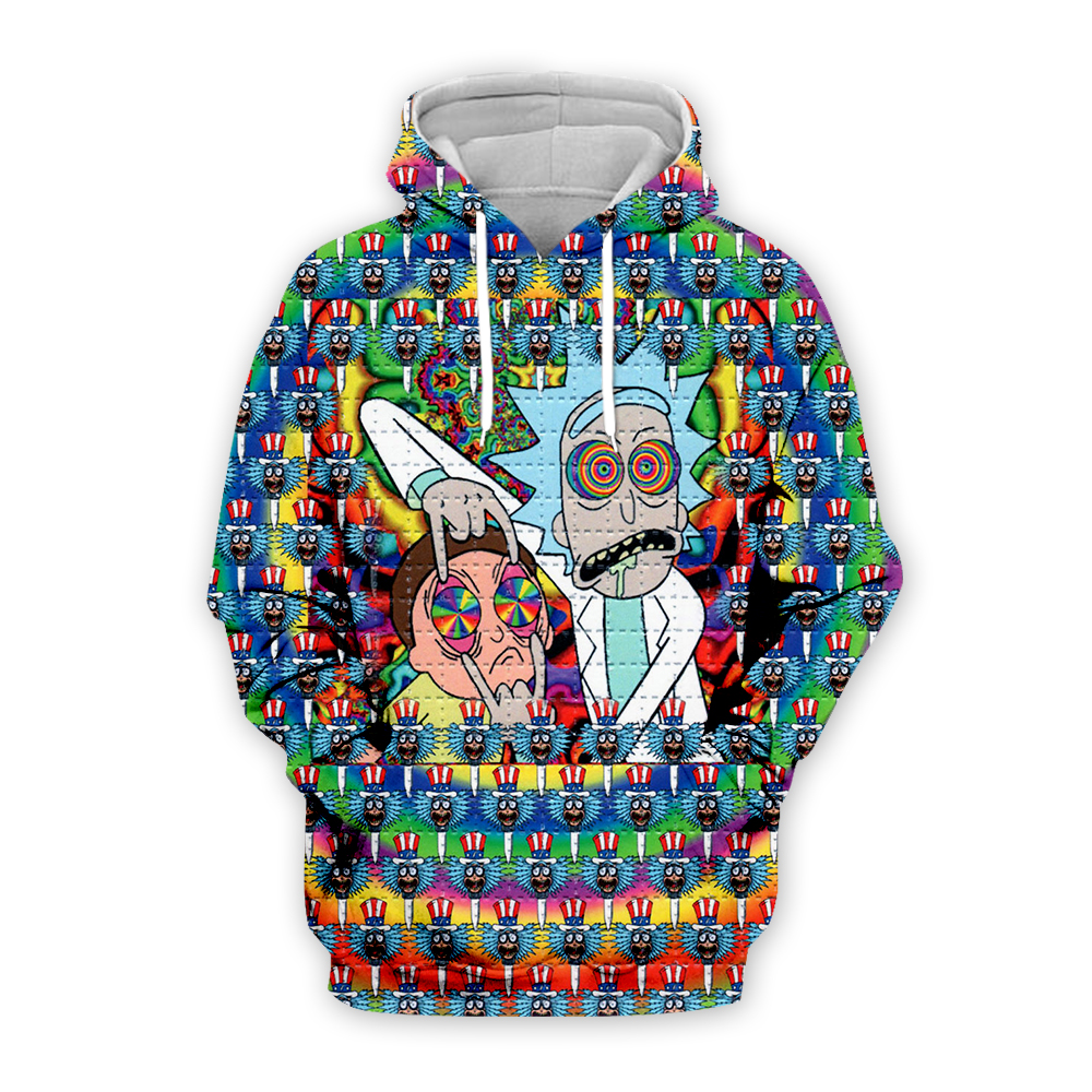 New Rick And Morty Print Hoodies 3D Unisex Sweatshirt Men Hoodie LSD Blotter Art Casual Tracksuit Pullover DropShip Streetwear