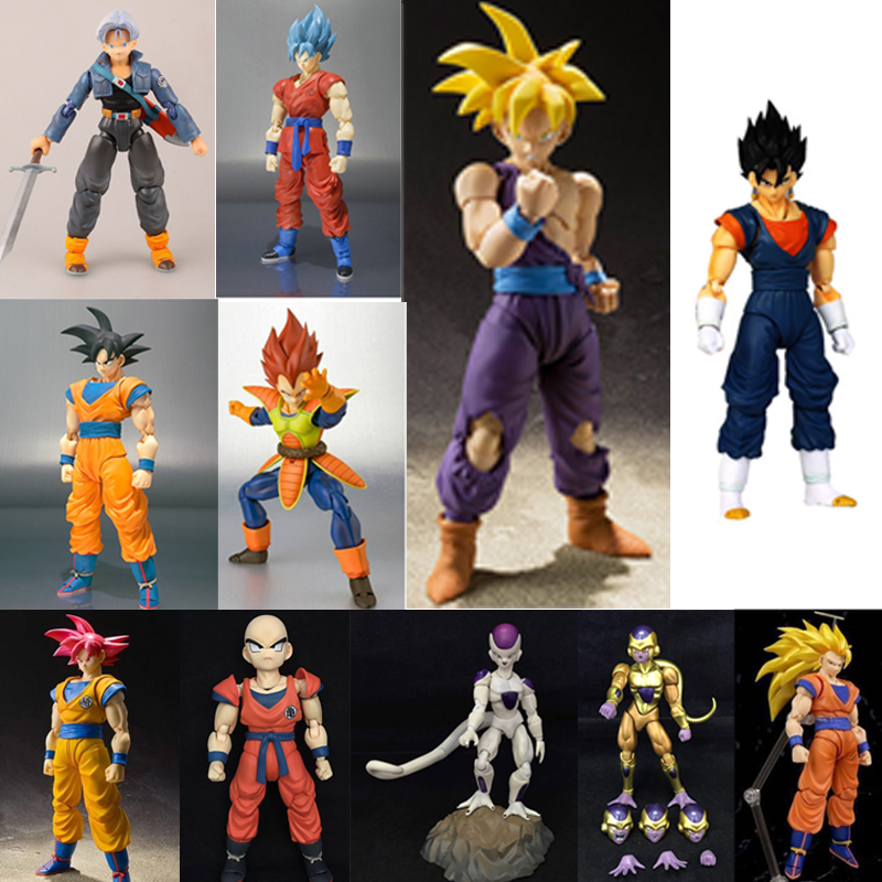Can Transformation Dragon Ball Z Super Saiyan God Rose go Goku Vegetto Vegeta Trunks Frieza Piccolo PVC Action Figures