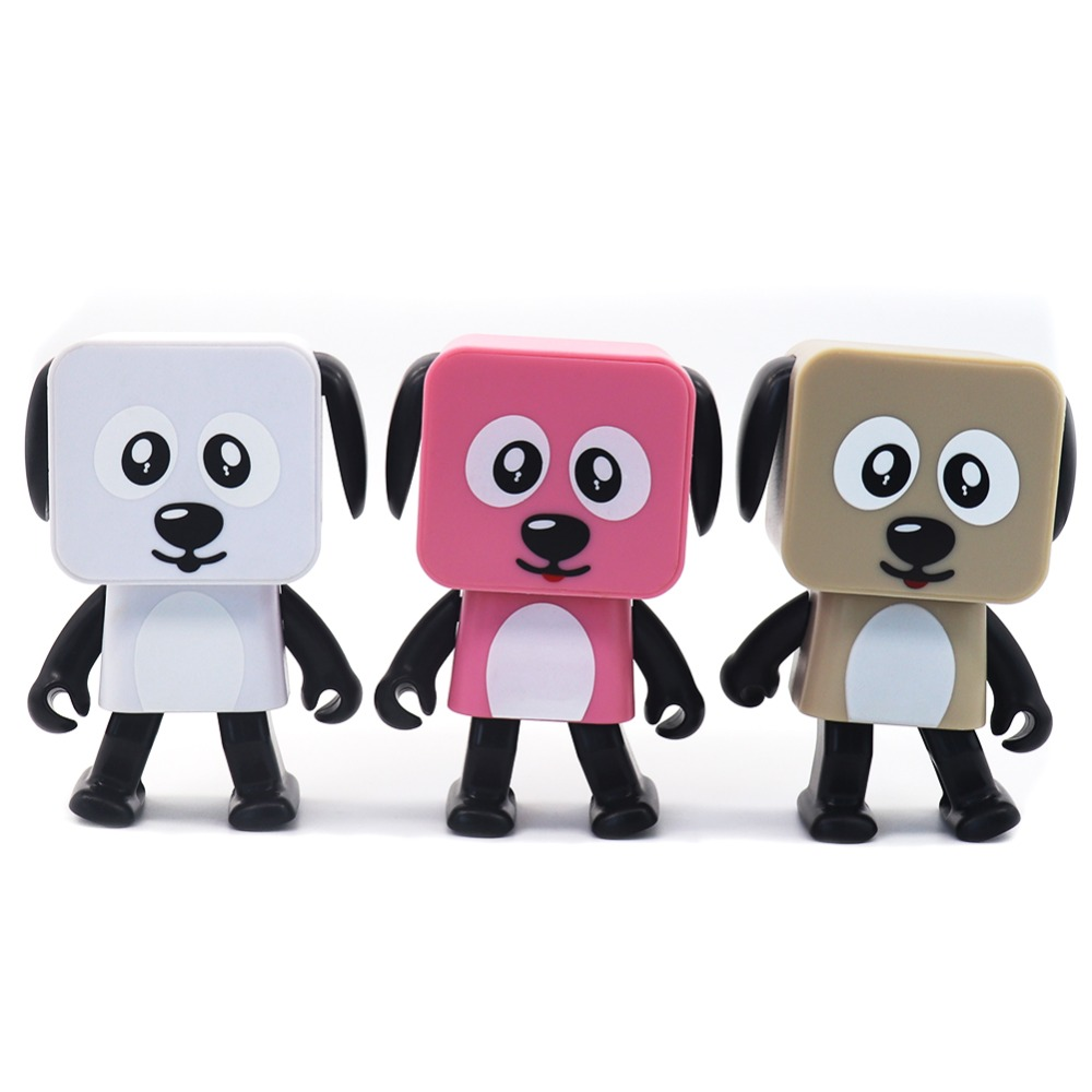 Cute Portable Smart Dancing Robot Wireless Bluetooth Speaker Dancing Robot Music Dog in Electronic Pets from Toys Hobbies
