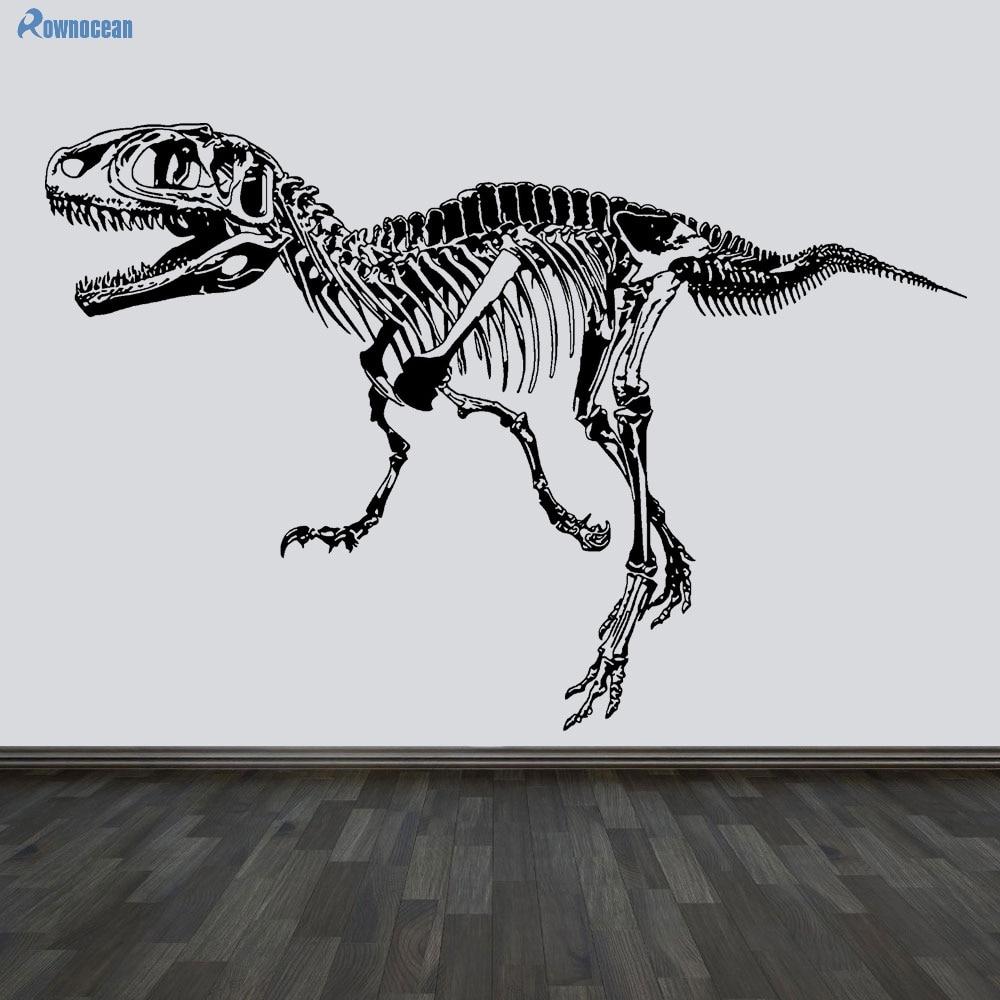Ustvarjalne stenske nalepke za dinozavre Fosil Okrasni okvir okolice Jurski park Dinozaver Dnevna soba Vinyl Muursticer D506