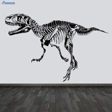 ROWNOCEAN Creative Home Decor Wall Stickers Dinosaur Fossil Skeleton Decorations Living Room Vinyl Muurstickers Removable D506