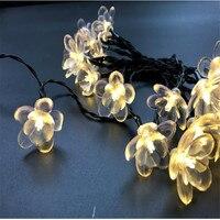 50 LED Światła Słonecznego Na Zewnątrz Ciąg Światła Water Lily Wodoodporna Lotus Flower Fairy Lights Zasilany Energią Słoneczną Dla Garden Light Party