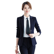 Women's Korean Fashion Pants and Blazers Spring Autumn Pant Suit Work Wear Women Office 2 Piece Set Pantsuit Slim Trouser Suits