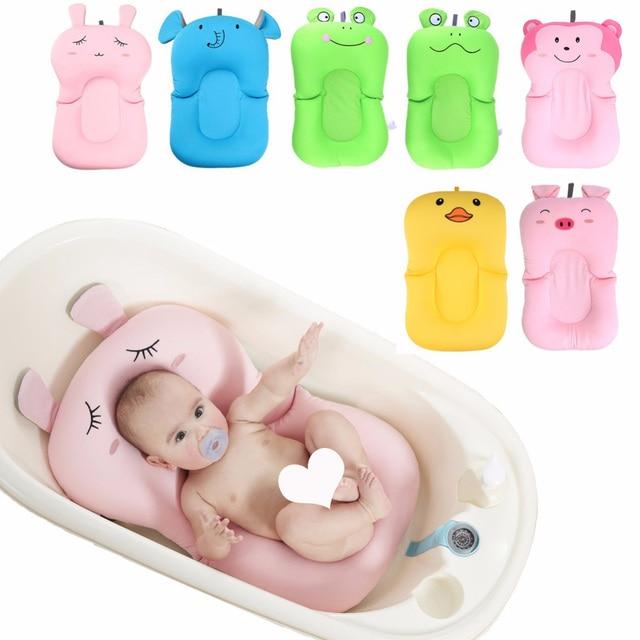 Складной детская ванночка плавательный круг коврик для Ванной сиденье противоскользящие цветущие купальный сетчатая кровать/кресло Baby ...