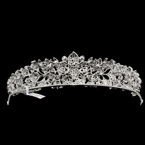 Image 5 - High Quality Crystal Noble Flower Bridal Tiara Crown Headbands Wedding Jewelry Hair Accessories Women Free Shipping 4714