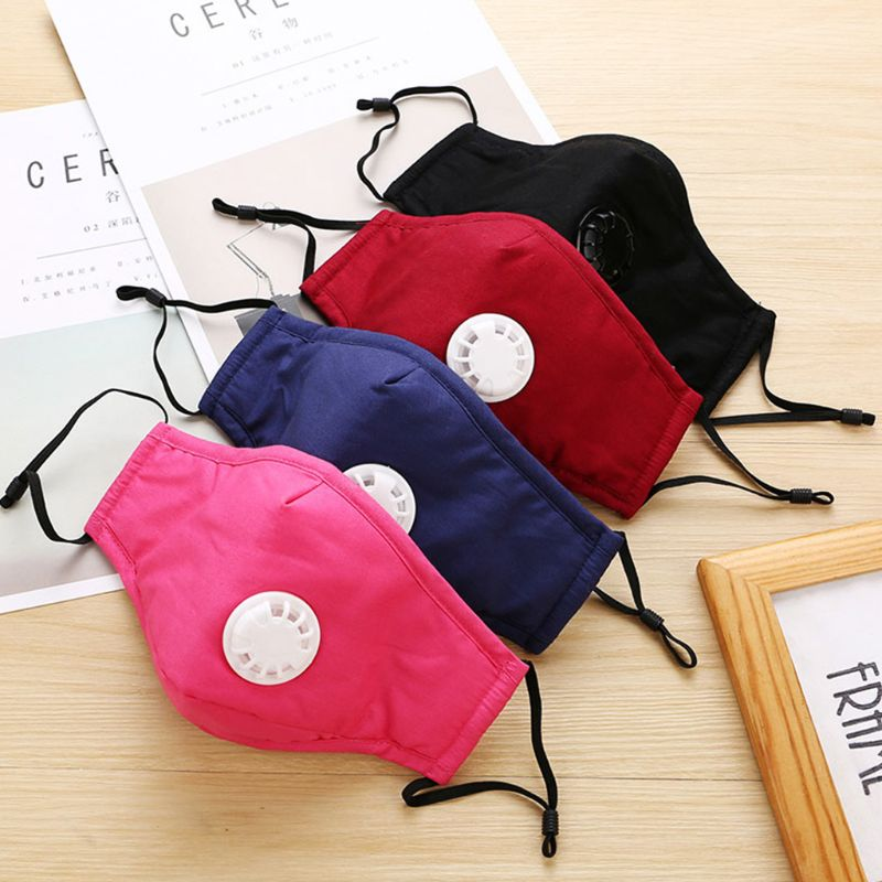 PM2.5 Air Filter Mouth Mask Washable Cotton Respirator Replaceable Filters Mouth Mask EY