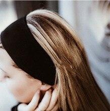 Sizin kafa bandı Siyah monogram Nakış Moda Tasarım Kadın Iyi Bakmak 2018 Kafa BANDı Elastik